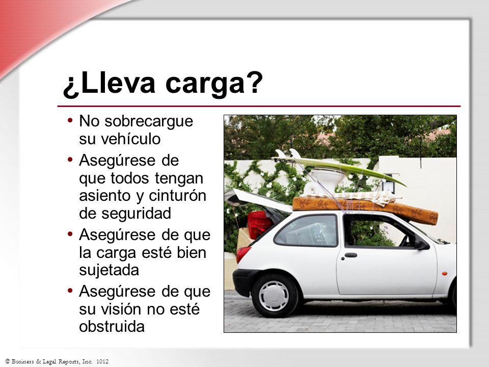 ¿Lleva carga No sobrecargue su vehículo