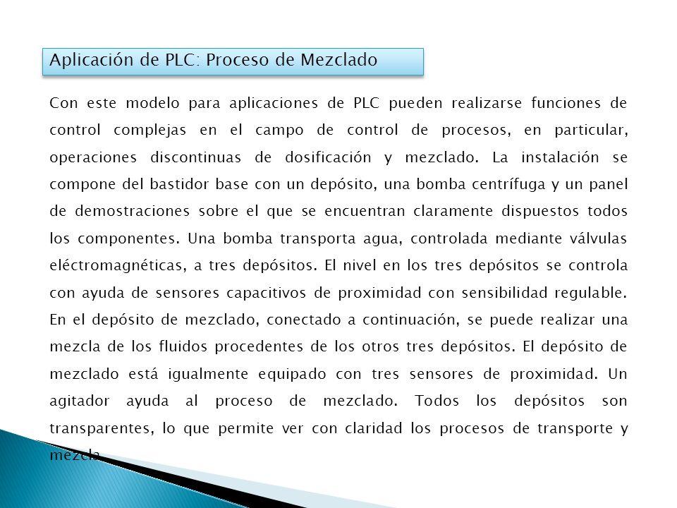Aplicación de PLC: Proceso de Mezclado