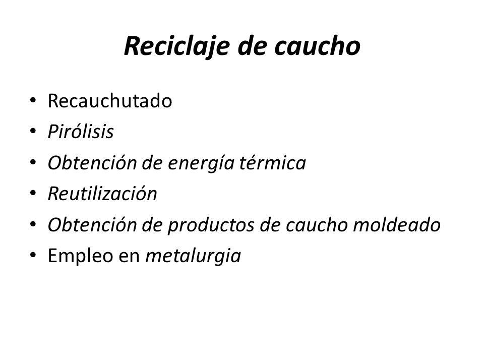 Reciclaje de caucho Recauchutado Pirólisis