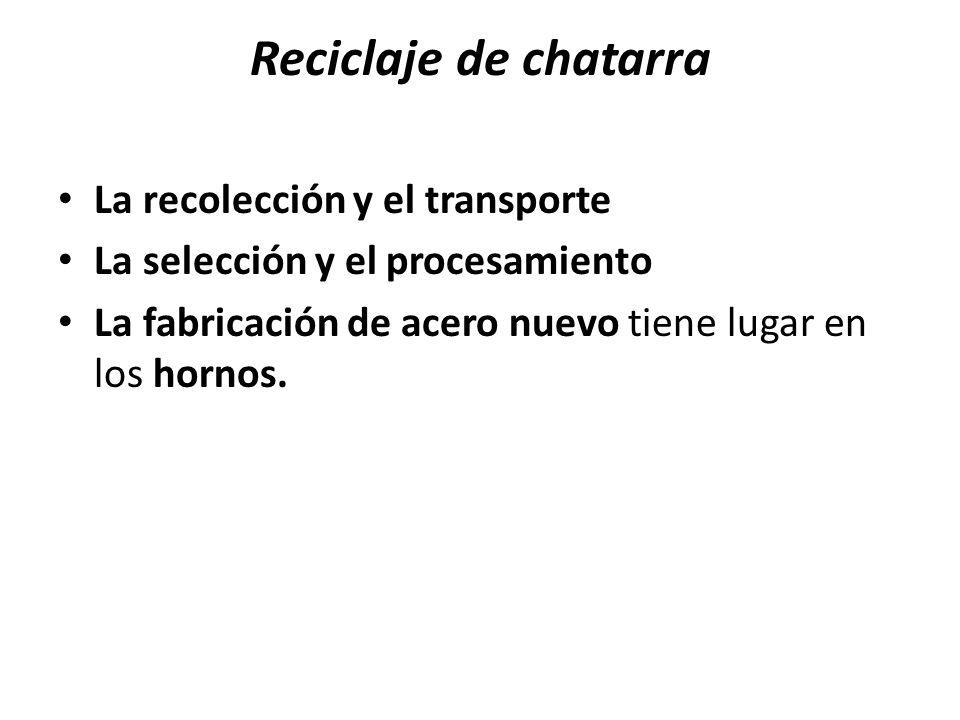Reciclaje de chatarra La recolección y el transporte