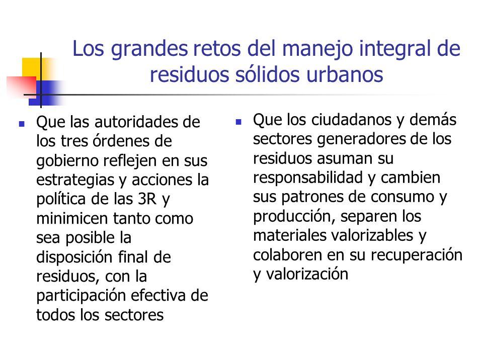 Los grandes retos del manejo integral de residuos sólidos urbanos