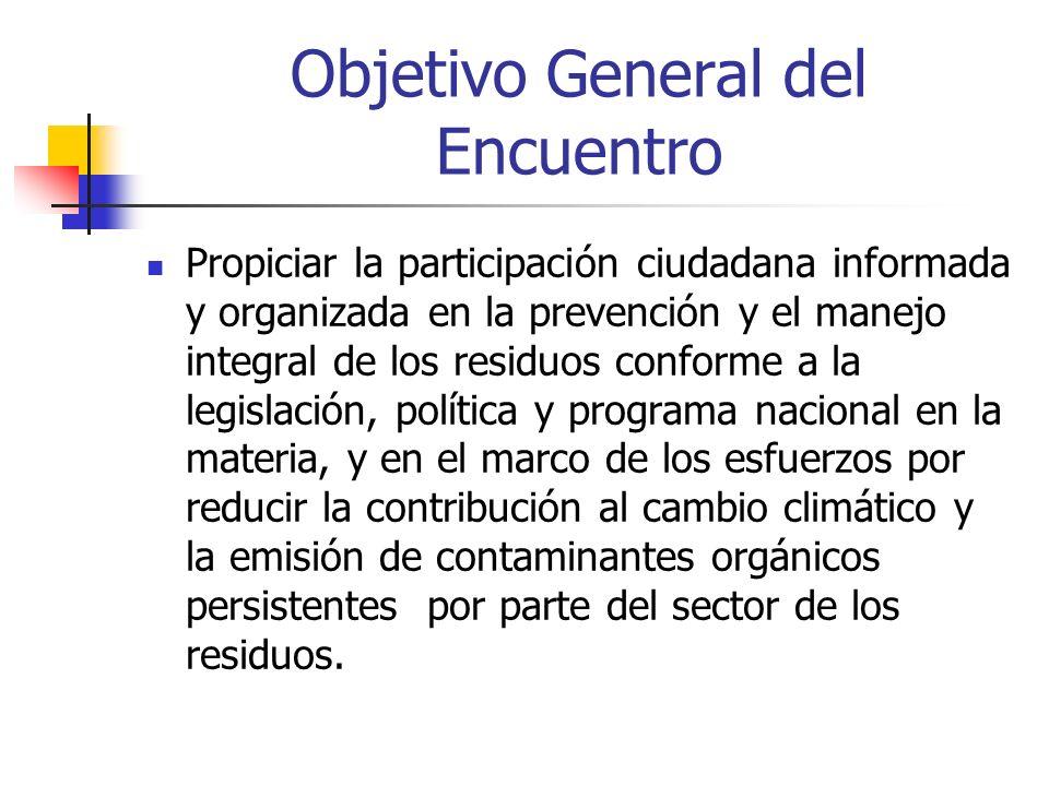 Objetivo General del Encuentro
