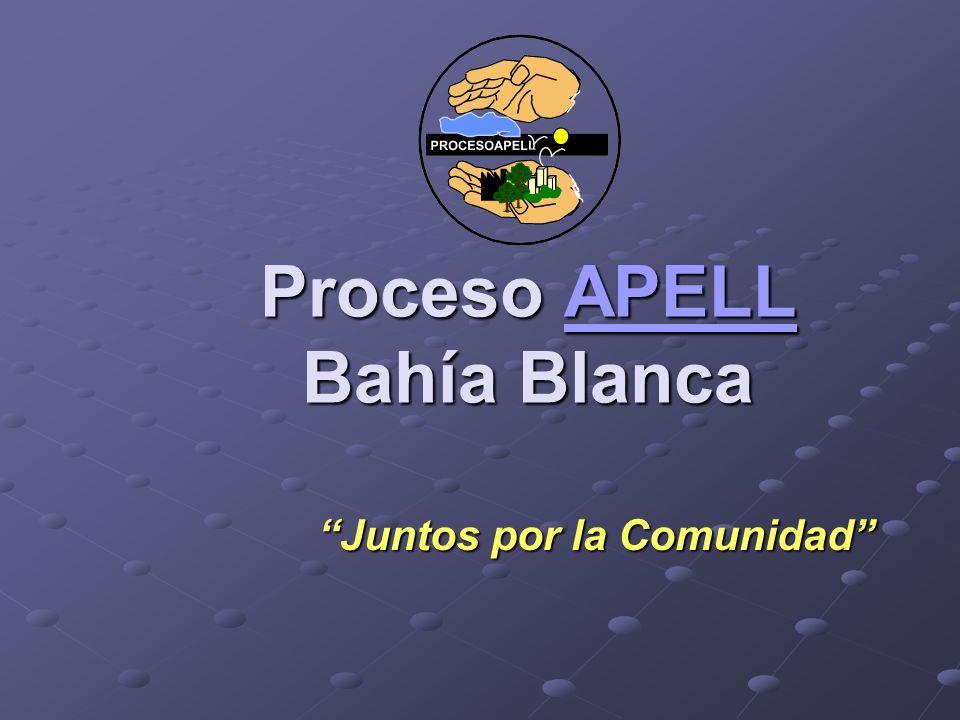 Proceso APELL Bahía Blanca