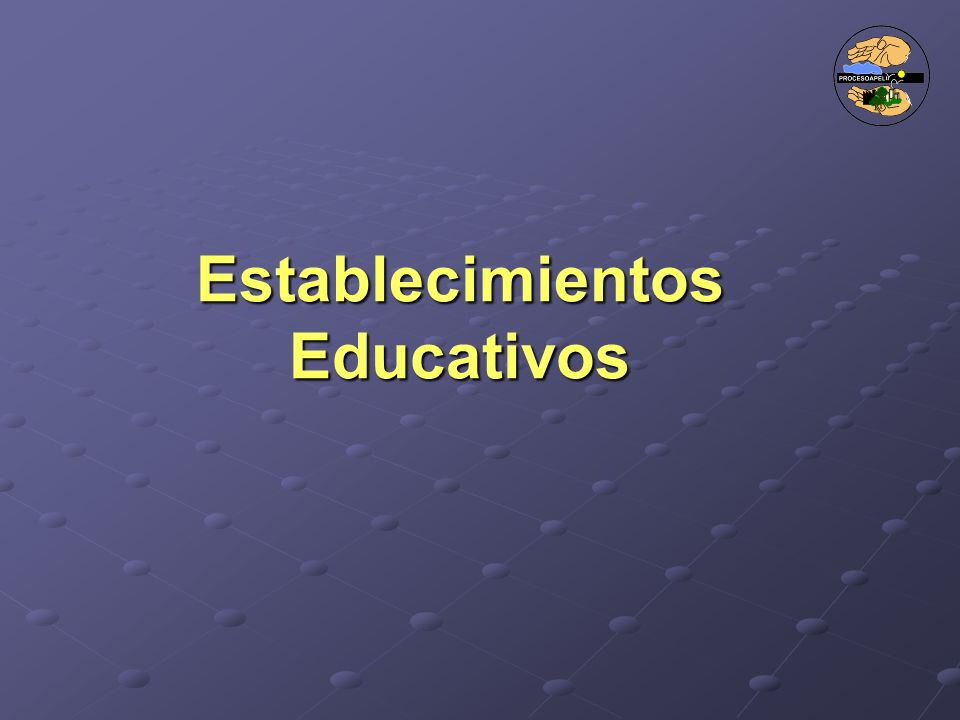 Establecimientos Educativos