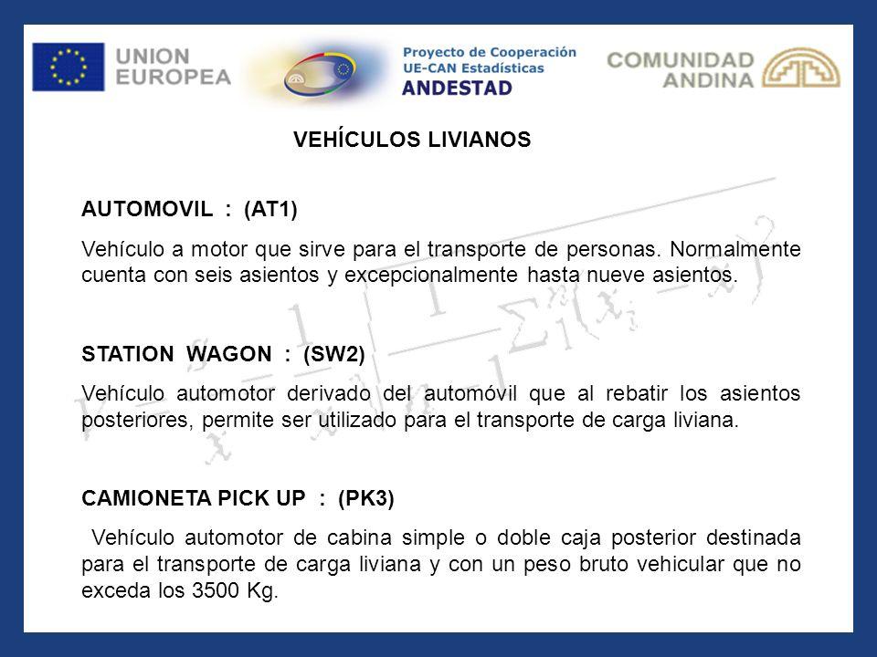 VEHÍCULOS LIVIANOS AUTOMOVIL : (AT1)