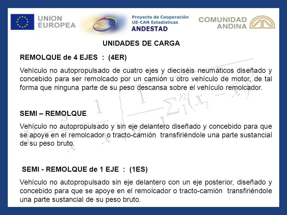 UNIDADES DE CARGA REMOLQUE de 4 EJES : (4ER)