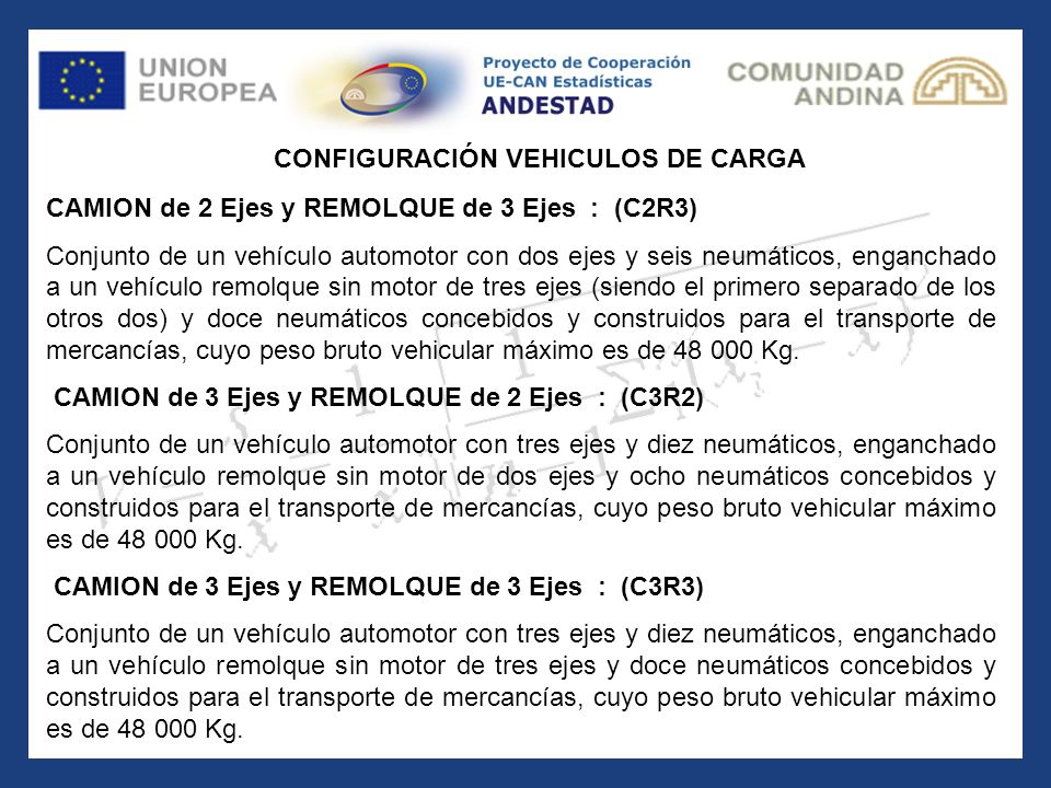 CONFIGURACIÓN VEHICULOS DE CARGA