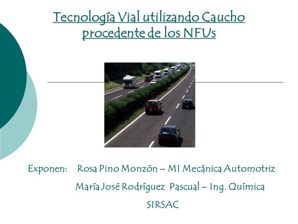 Tecnología Vial utilizando Caucho procedente de los NFUs