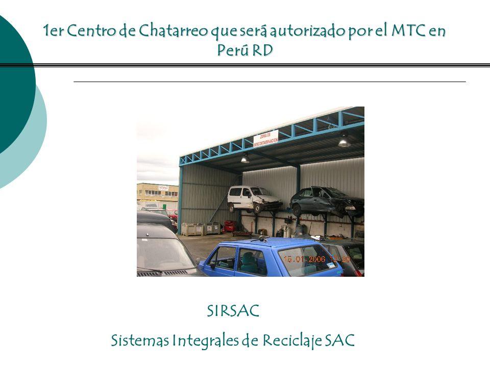 1er Centro de Chatarreo que será autorizado por el MTC en Perú RD