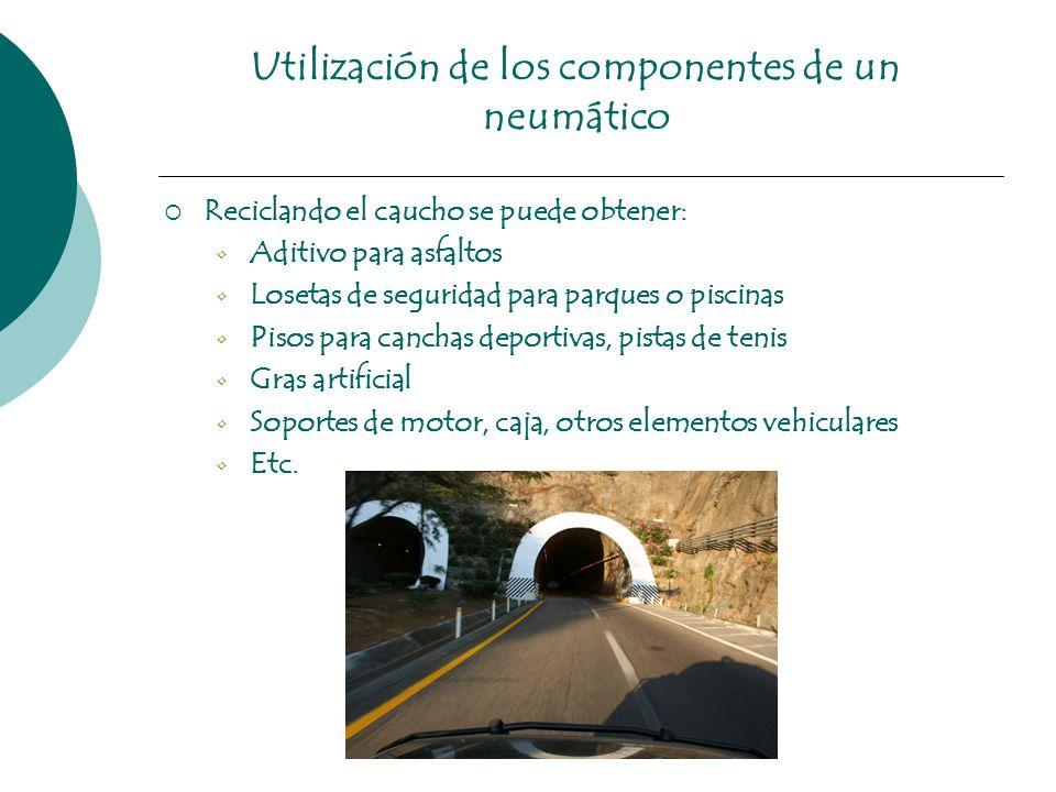 Utilización de los componentes de un neumático