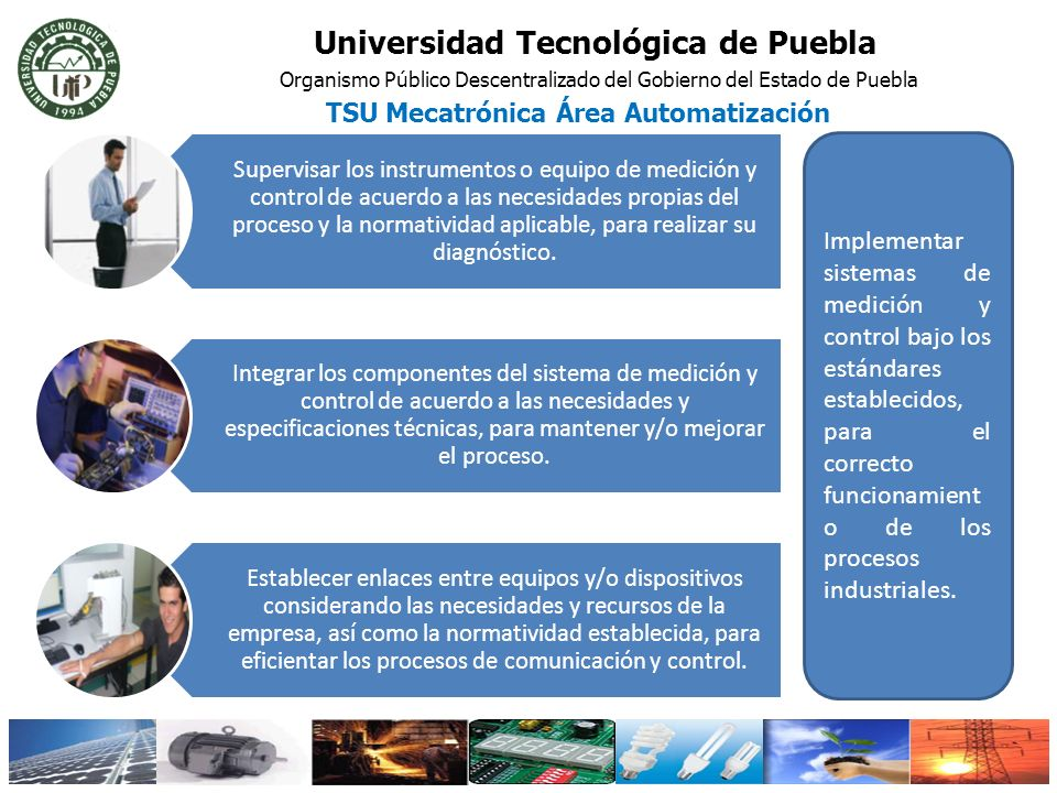 Universidad Tecnológica de Puebla TSU Mecatrónica Área Automatización