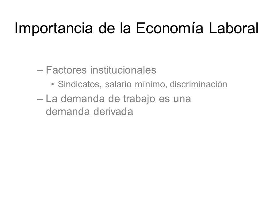 Importancia de la Economía Laboral