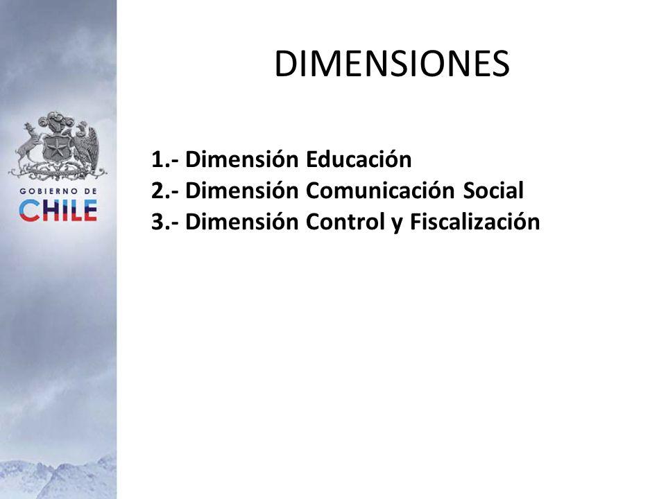 DIMENSIONES 1.- Dimensión Educación 2.- Dimensión Comunicación Social