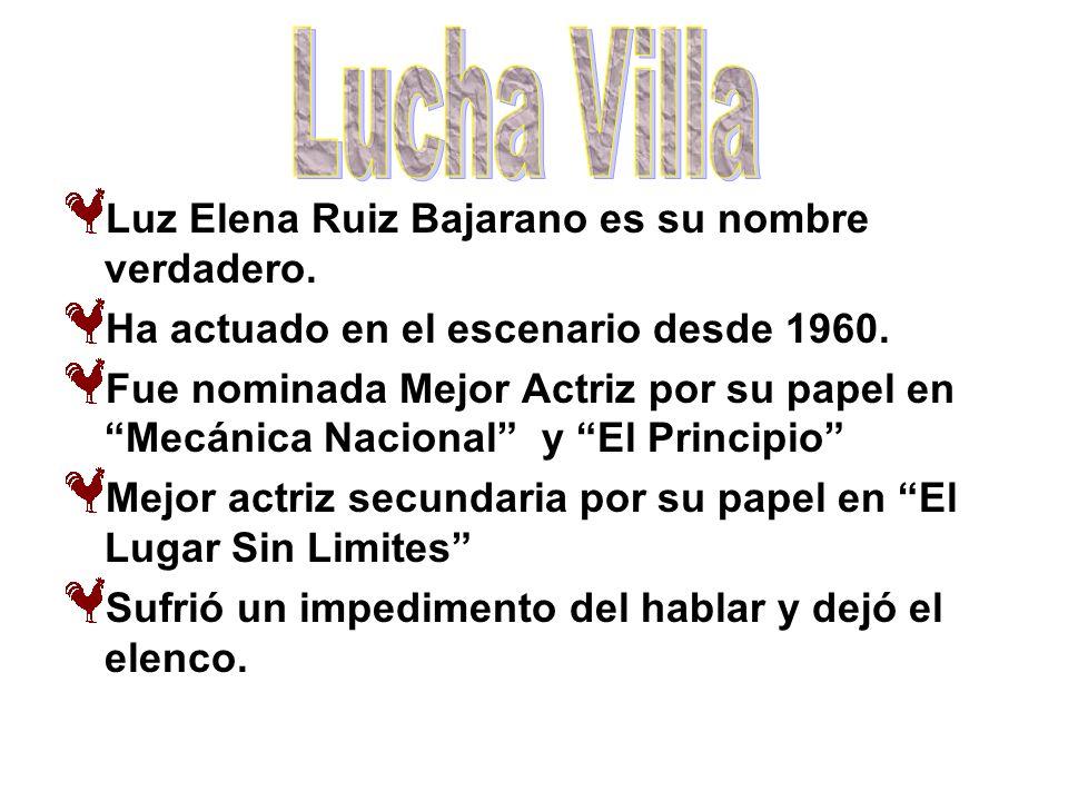 Lucha Villa Luz Elena Ruiz Bajarano es su nombre verdadero.