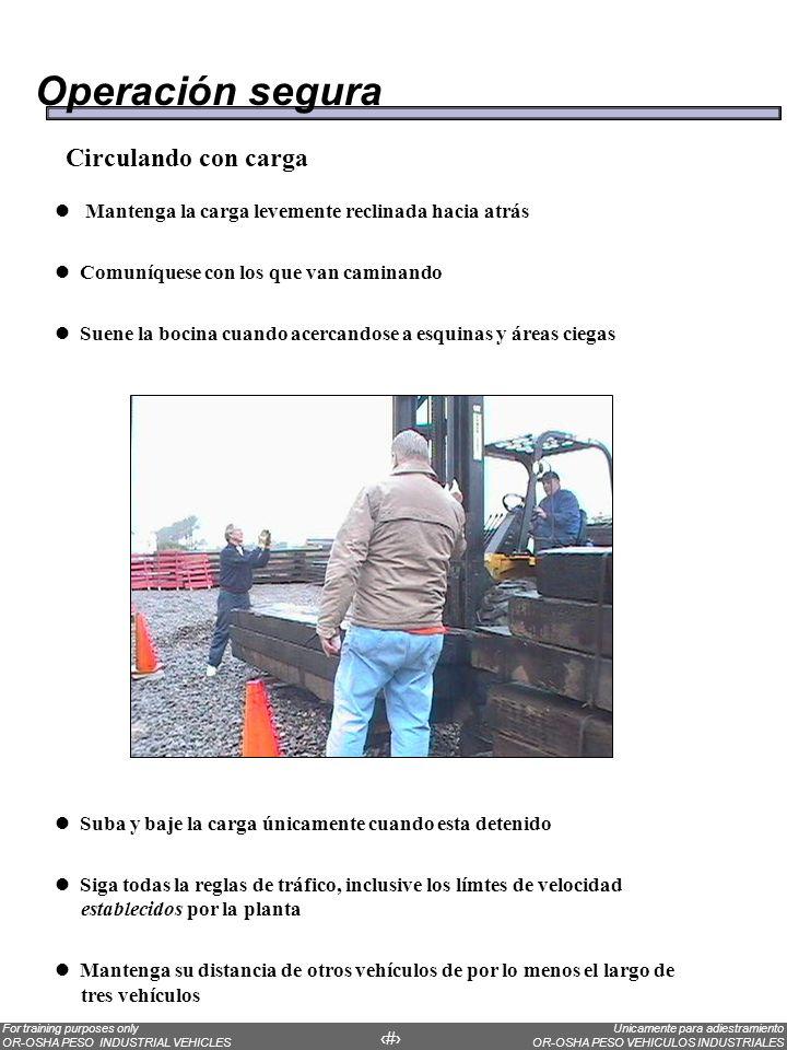 Operación segura Circulando con carga