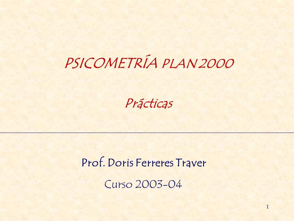 PSICOMETRÍA PLAN 2000 Prácticas