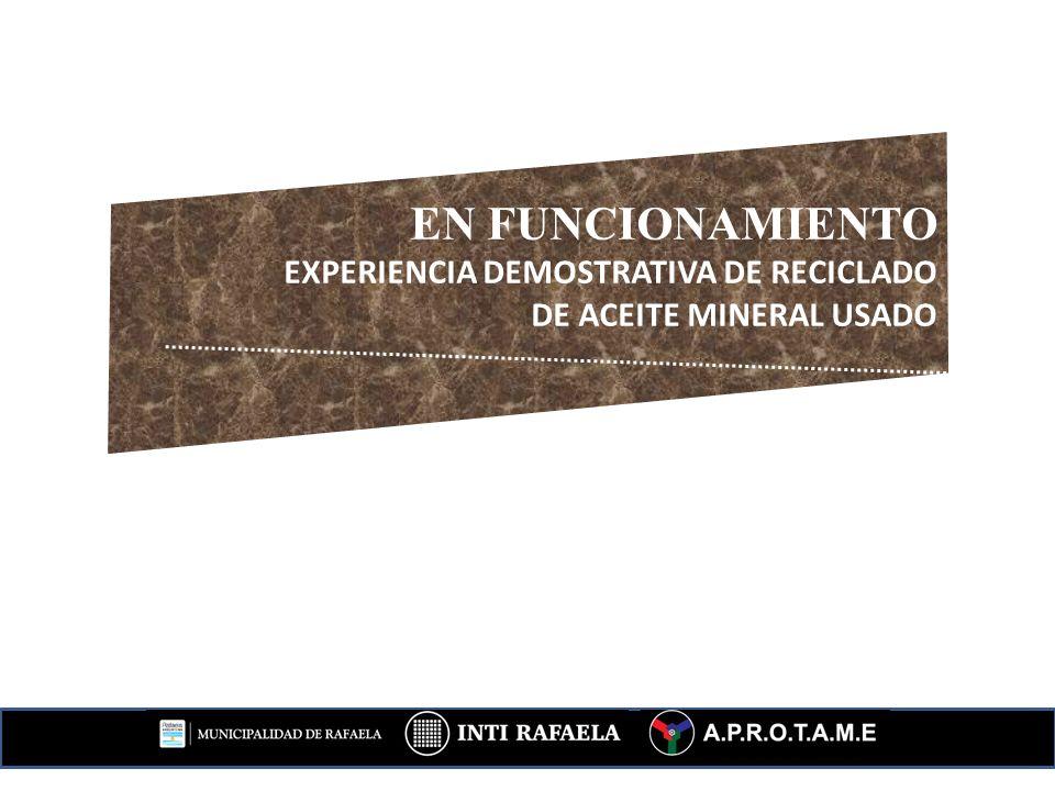 EN FUNCIONAMIENTO EXPERIENCIA DEMOSTRATIVA DE RECICLADO