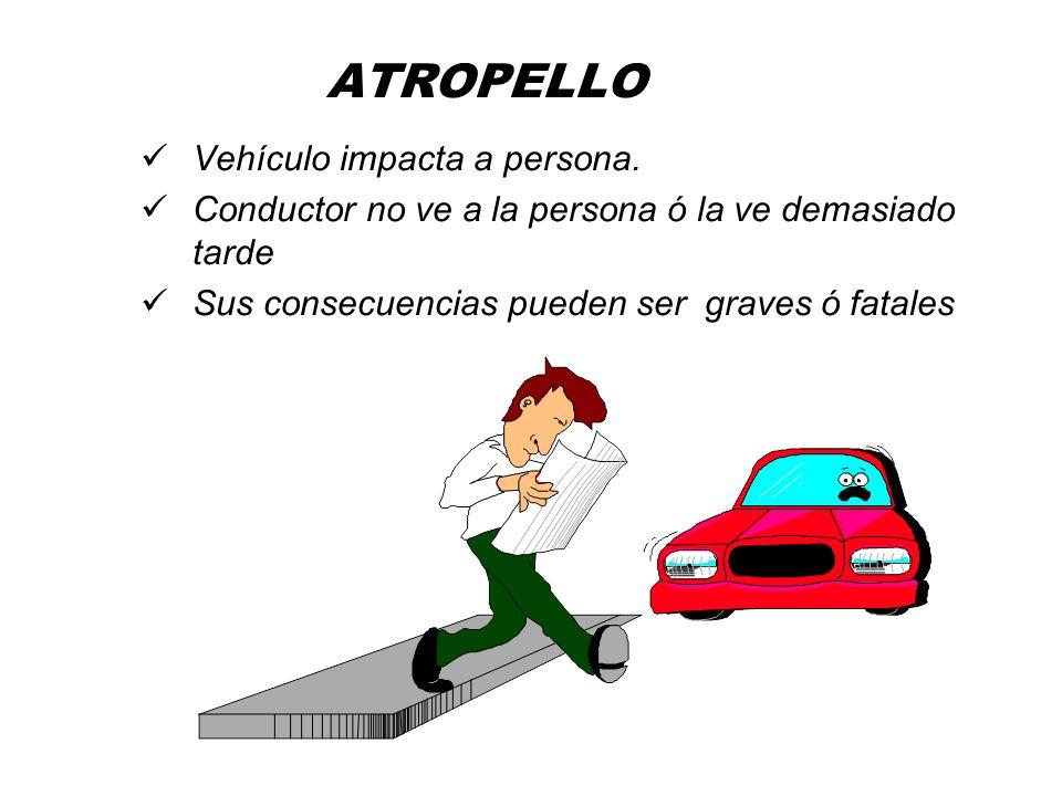 ATROPELLO Vehículo impacta a persona.