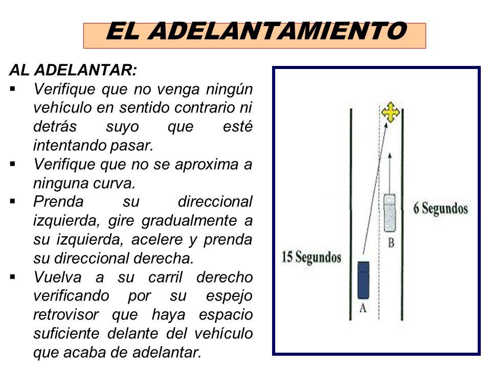 EL ADELANTAMIENTO AL ADELANTAR: