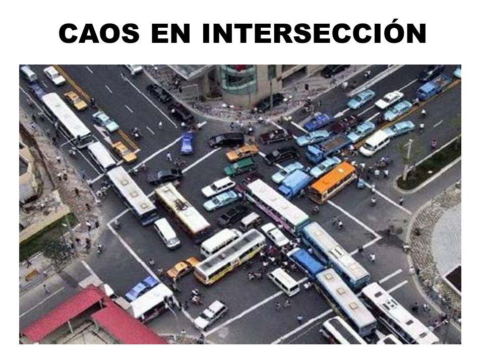 CAOS EN INTERSECCIÓN