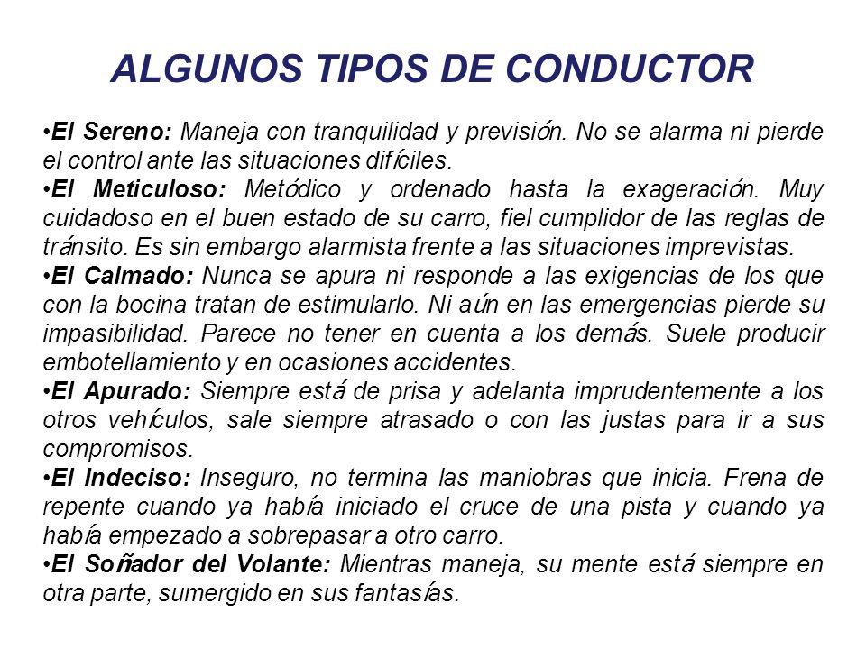 ALGUNOS TIPOS DE CONDUCTOR