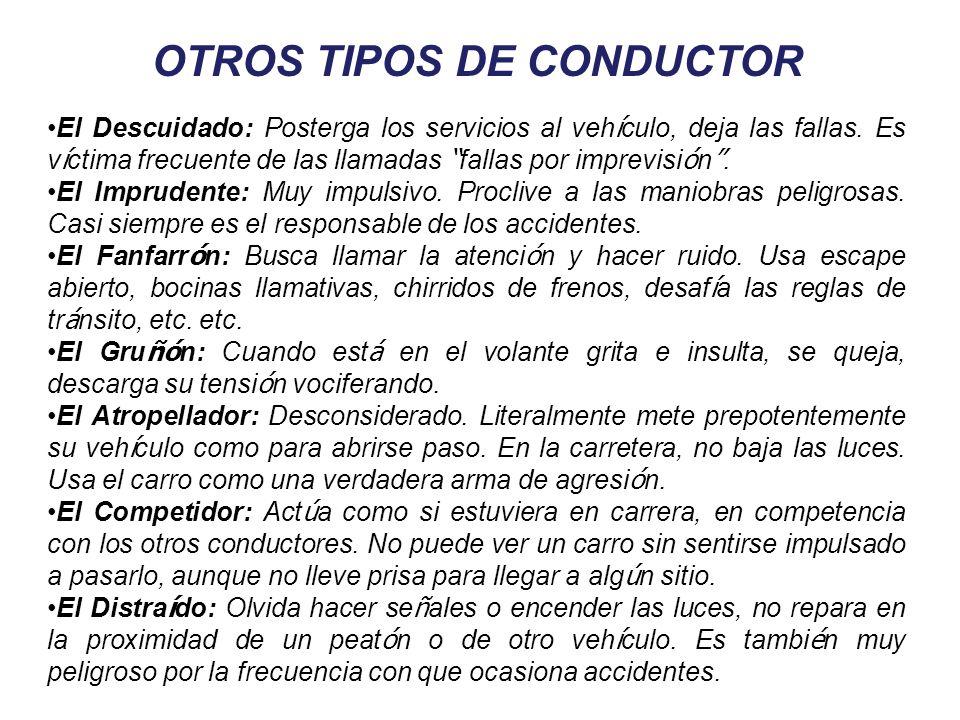 OTROS TIPOS DE CONDUCTOR