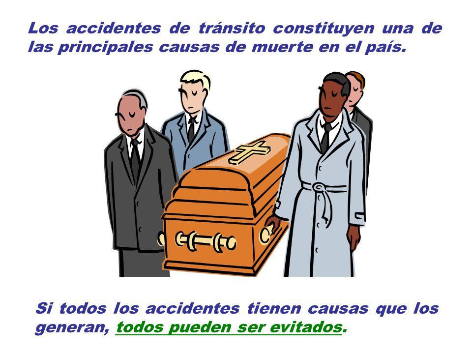 Los accidentes de tránsito constituyen una de las principales causas de muerte en el país.