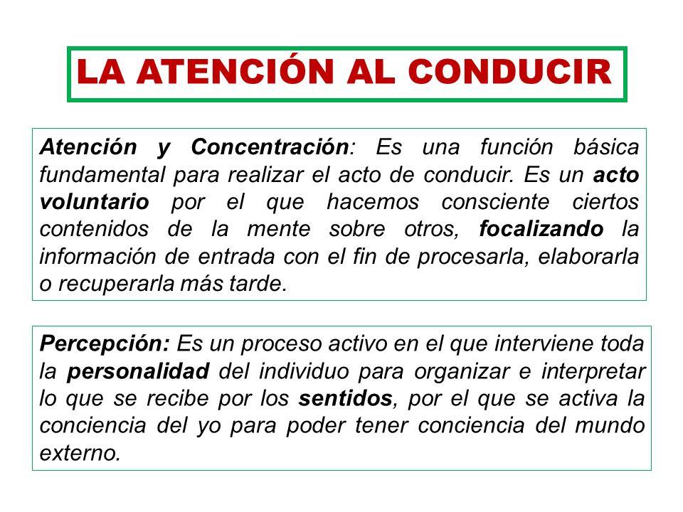 LA ATENCIÓN AL CONDUCIR