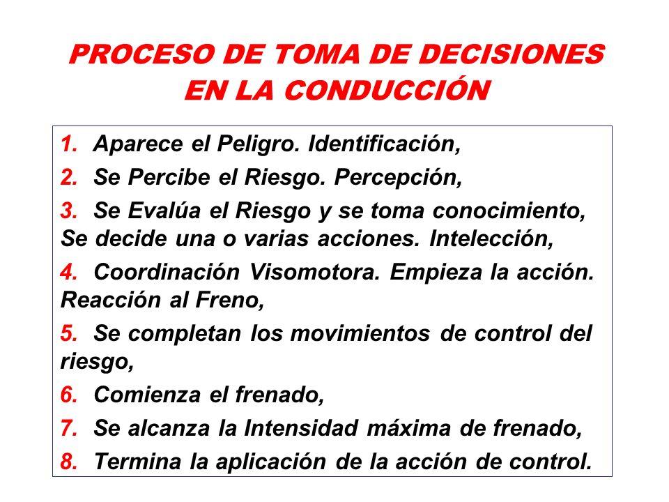 PROCESO DE TOMA DE DECISIONES EN LA CONDUCCIÓN