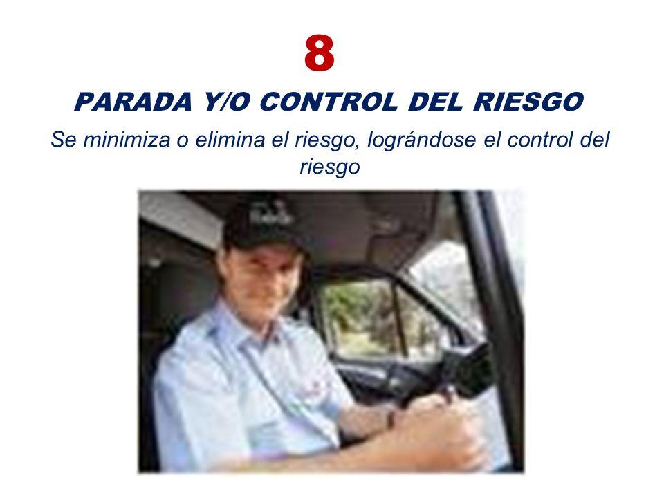 8 PARADA Y/O CONTROL DEL RIESGO