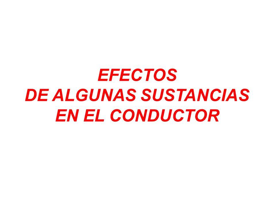 EFECTOS DE ALGUNAS SUSTANCIAS EN EL CONDUCTOR