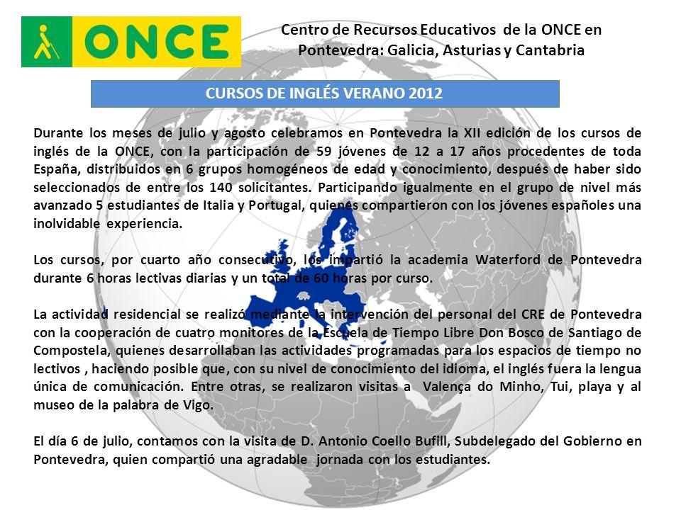 CURSOS DE INGLÉS VERANO 2012