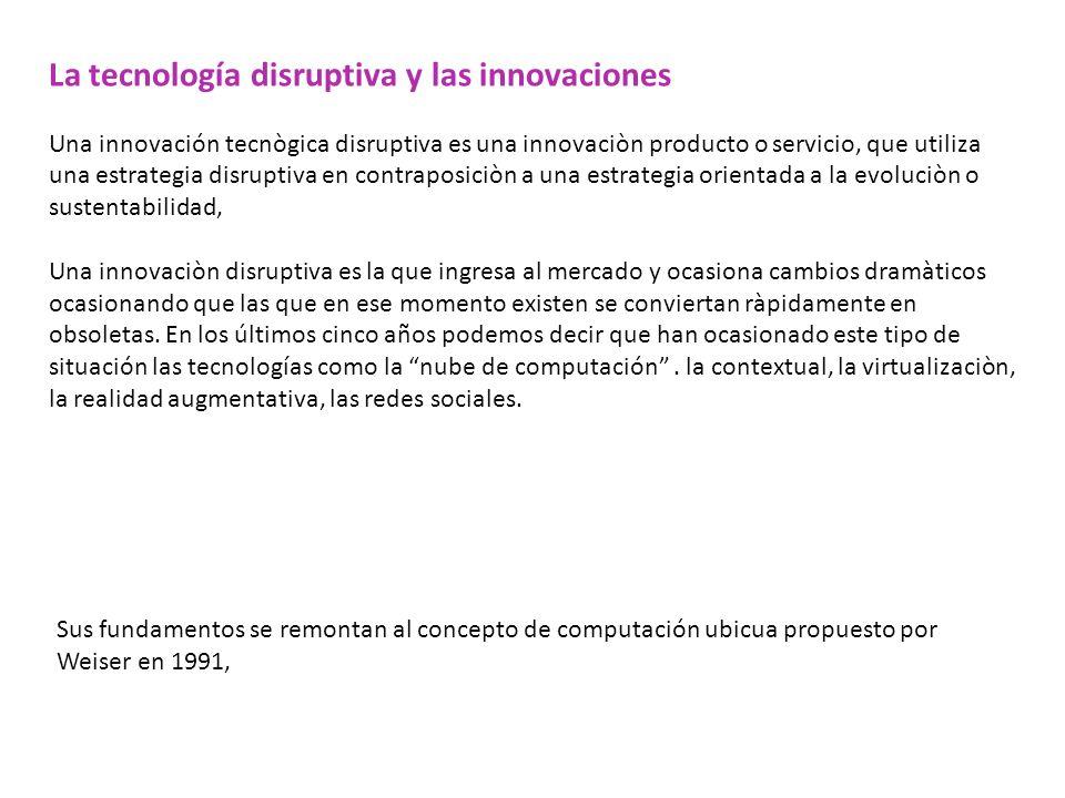 La tecnología disruptiva y las innovaciones