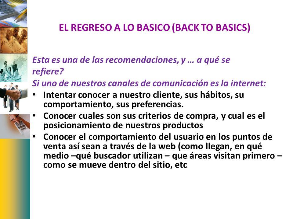 EL REGRESO A LO BASICO (BACK TO BASICS)