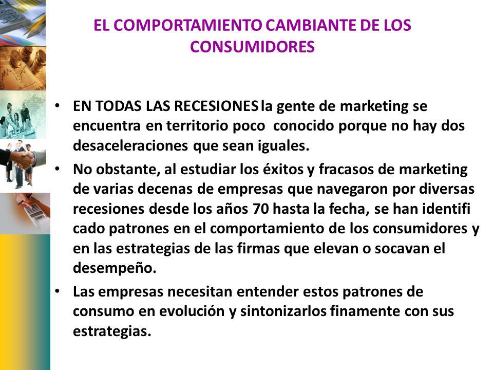 EL COMPORTAMIENTO CAMBIANTE DE LOS CONSUMIDORES