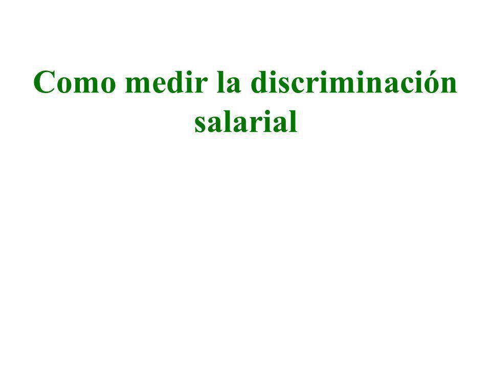 Como medir la discriminación salarial