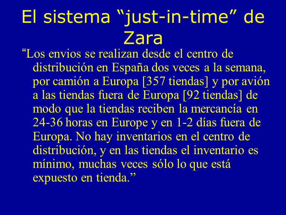 El sistema just-in-time de Zara