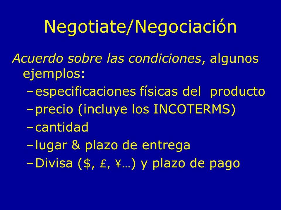 Negotiate/Negociación