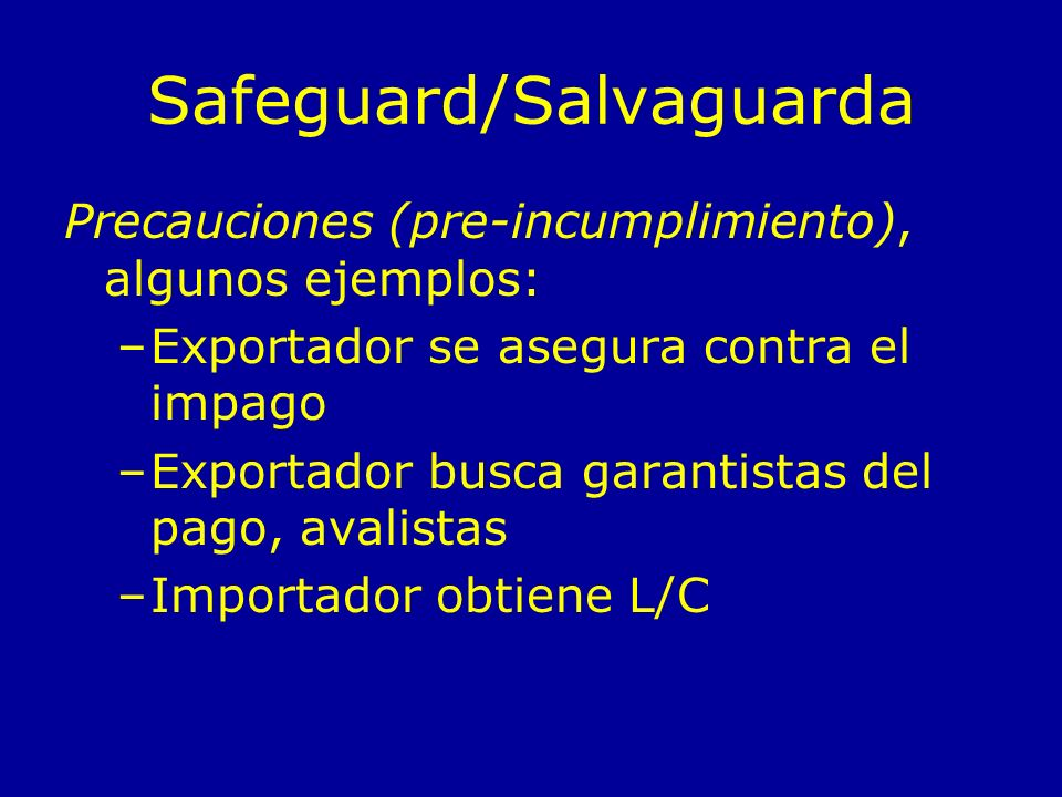 Safeguard/Salvaguarda