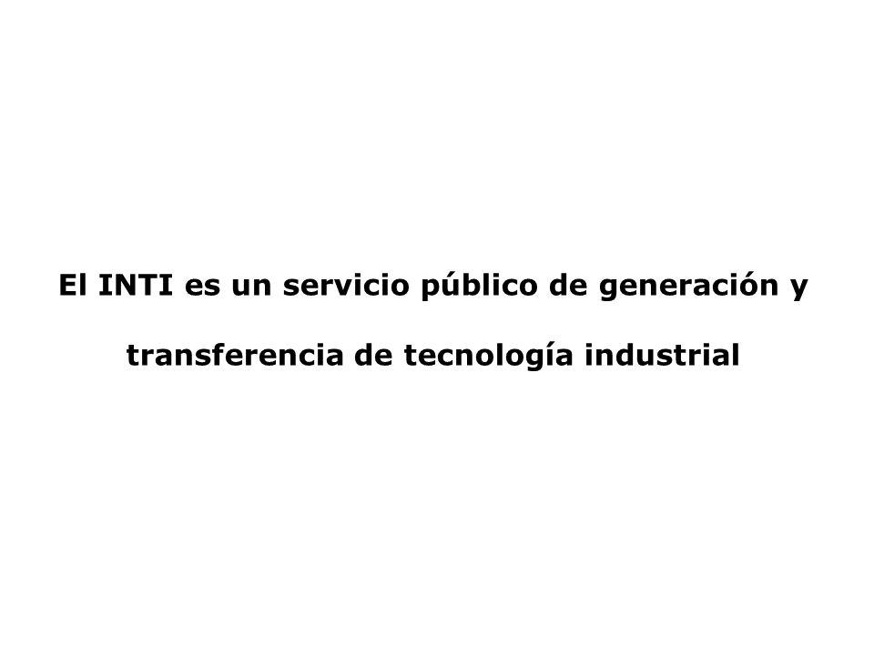 El INTI es un servicio público de generación y