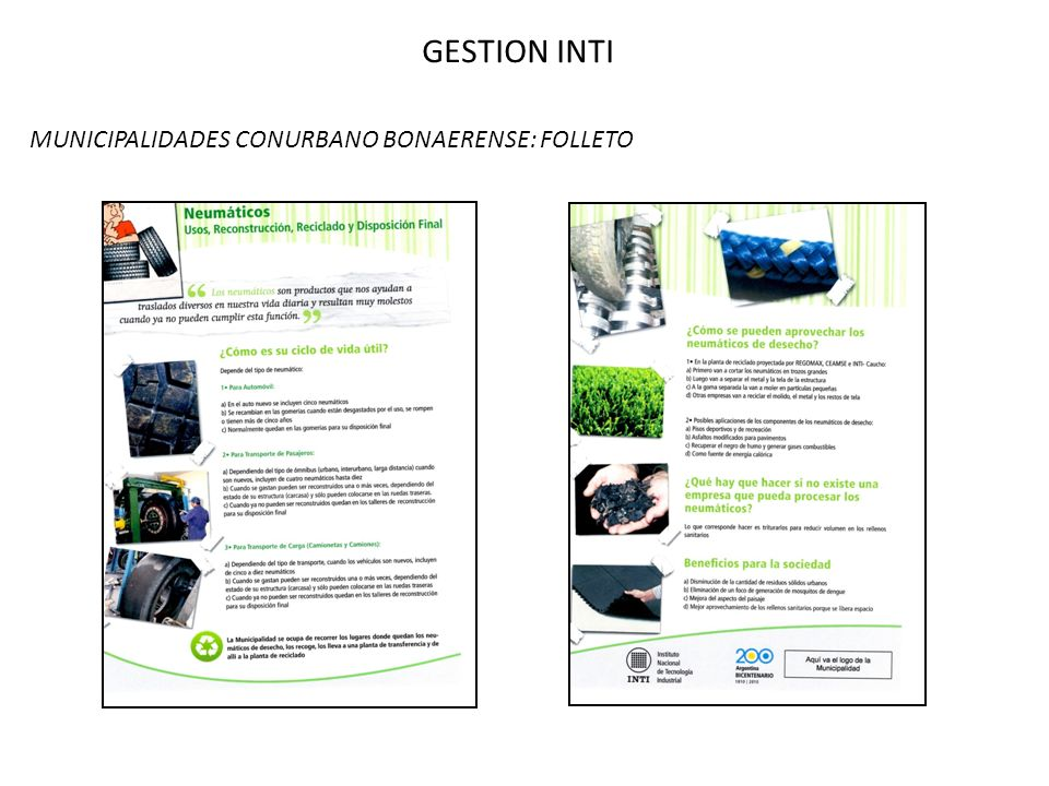 GESTION INTI MUNICIPALIDADES CONURBANO BONAERENSE: FOLLETO
