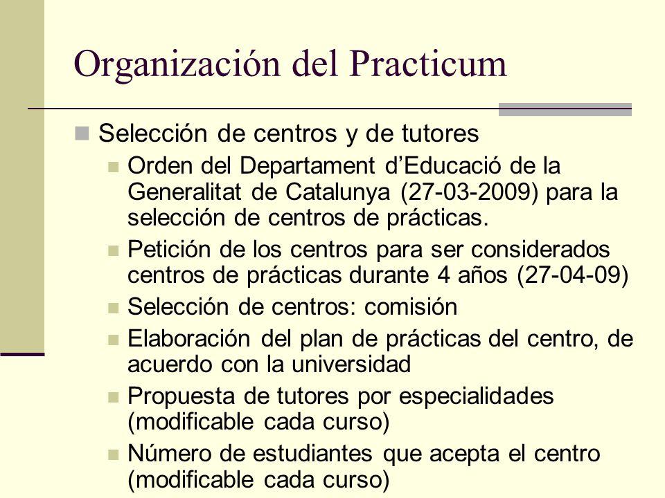 Organización del Practicum