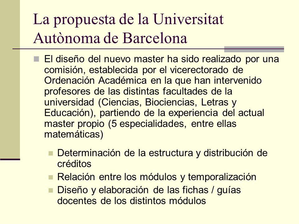 La propuesta de la Universitat Autònoma de Barcelona