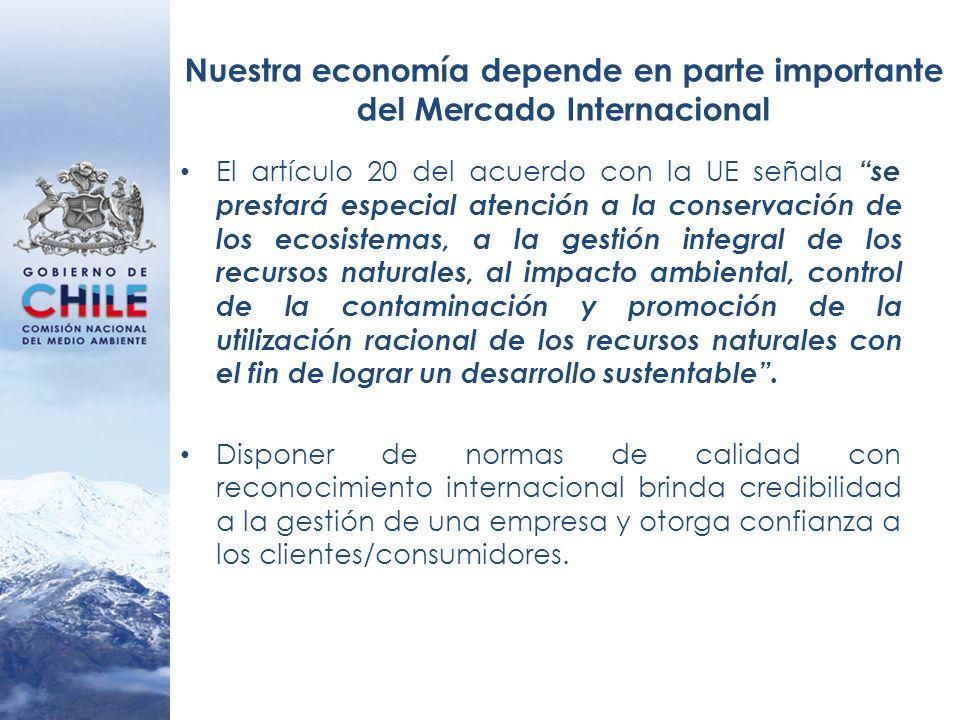Nuestra economía depende en parte importante del Mercado Internacional