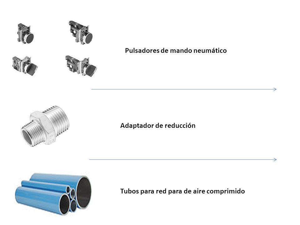 Pulsadores de mando neumático