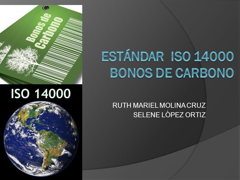Estándar ISO 14000 bonos de carbono