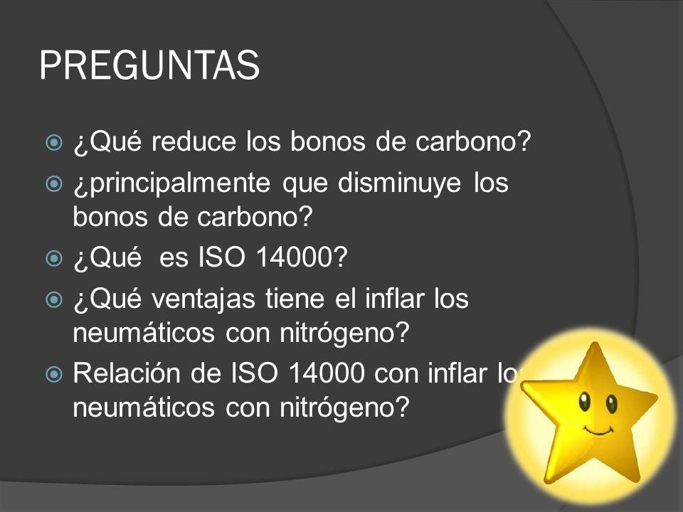 PREGUNTAS ¿Qué reduce los bonos de carbono