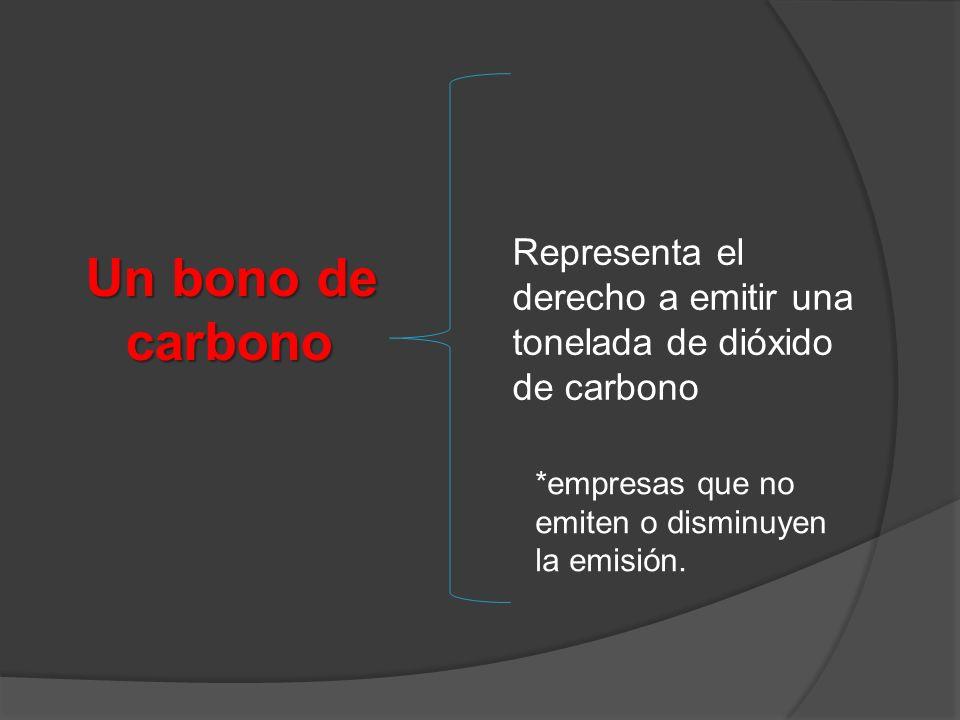 Representa el derecho a emitir una tonelada de dióxido de carbono