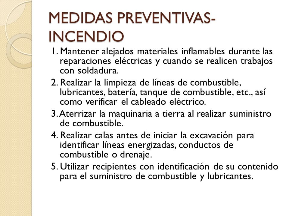 MEDIDAS PREVENTIVAS-INCENDIO