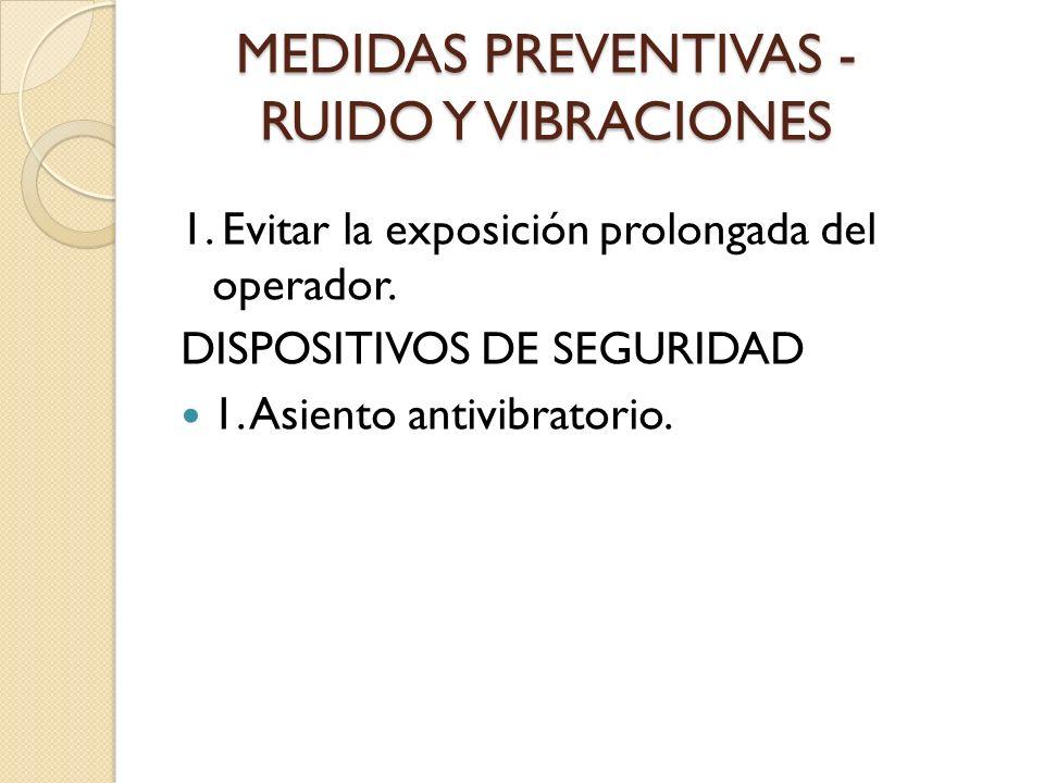 MEDIDAS PREVENTIVAS - RUIDO Y VIBRACIONES